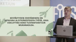PEFC puheenvuoro Yritysvastuunyt tapahtumassa